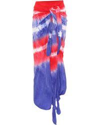 Loewe Paula's Ibiza Tie-dye Cotton And Silk Wrap Skirt - Multicolor