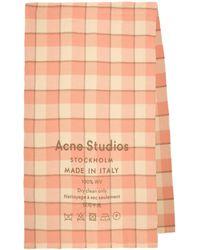 Acne Studios Écharpe en laine à carreaux - Rose