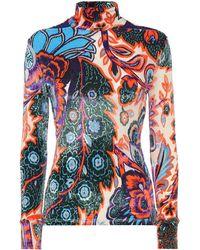 Paco Rabanne Dolcevita a stampa floreale in velluto - Multicolore