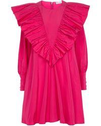 RED Valentino Minikleid mit Rüschen - Pink