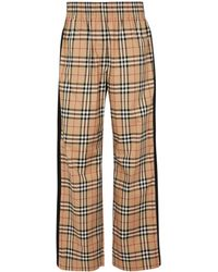 Burberry Pantalones anchos Vintage Check de algodón - Neutro
