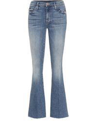 Mother High-Rise Flared Jeans The Weekender - Blau