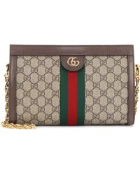 Gucci Ophidia GG Small Shoulder Bag - Brown
