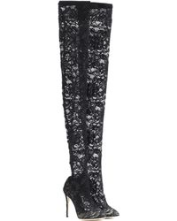 Dolce & Gabbana - Over-the-knee Lace Boots - Lyst