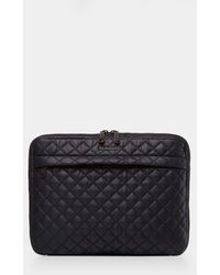 MZ Wallace Quilted Black Metro Organizer