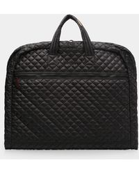 MZ Wallace Black Quilted Michael Garment Bag