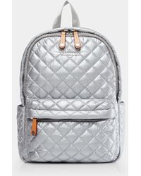 MZ Wallace - Quilted Tin Metallic Small Metro Backpack - Lyst