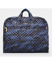 MZ Wallace Quilted Dark Blue Camo Michael Garment Bag