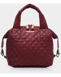 MZ Wallace Quilted Maroon Small Sutton - Red