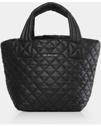 MZ Wallace - Quilted Black Mini Metro Tote - Lyst