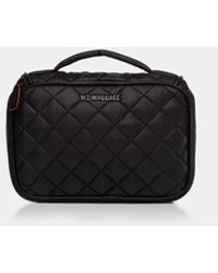MZ Wallace Small Zip Round Cosmetic - Black