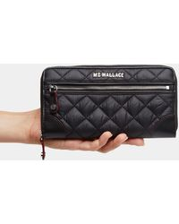 MZ Wallace Black Crosby Long Wallet