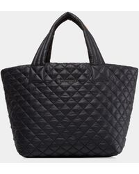 MZ Wallace Metro Small Quilted Nylon Tote - Black