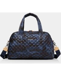 MZ Wallace Jim Quilted Nylon Travel Bag - Blue