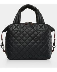 MZ Wallace Quilted Canvas Satchel - Black