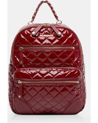 MZ Wallace - Quilted Cranberry Lacquer Small Crosby Backpack - Lyst