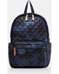 MZ Wallace - Dark Blue Camo Print Small Metro Backpack - Lyst