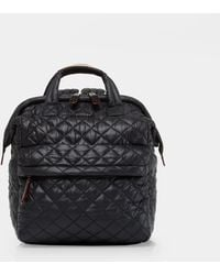 MZ Wallace Small Top Handle Backpack - Black