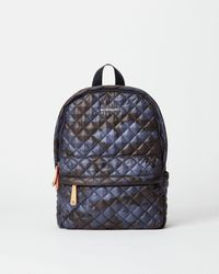 MZ Wallace - Quilted Dark Blue Camo City Backpack - Lyst