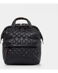 MZ Wallace - Quilted Black Small Top Handle Backpack - Lyst