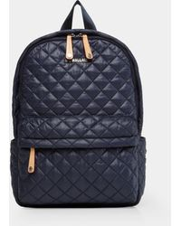 MZ Wallace Quilted Dark Blue Camo Metro Backpack