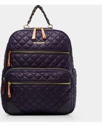 MZ Wallace - Quilted Boysenberry Crosby Backpack - Lyst