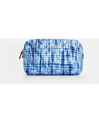 MZ Wallace Shibori Print Mica Cosmetic - Blue