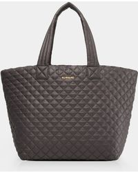 MZ Wallace Quilted Magnet Large Metro Tote - Gray