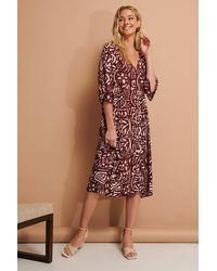 NA-KD Trend Kaftan-Kleid - Rot