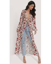 Trendyol Multicolor Flower Patterned Viscose Kimono
