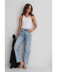 Mango Blue Premium Crop Jeans