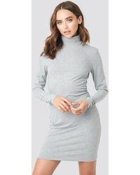 NA-KD - Polo Neck Dress - Lyst