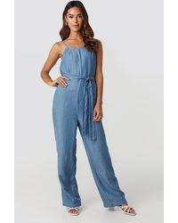 Mango Flexi One-piece Suit - Blauw