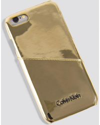 Calvin Klein - Frame Iphone 7/8 Metallic Cover Light Gold - Lyst
