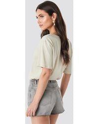 NA-KD Raw Hem High Waist Shorts - Grau