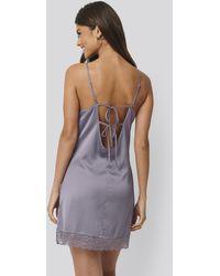 NA-KD Purple Strappy Night Dress