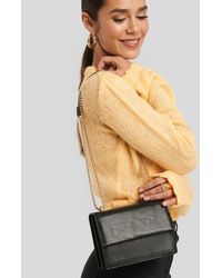 NA-KD Mini Chain Detail Flap Bag Black