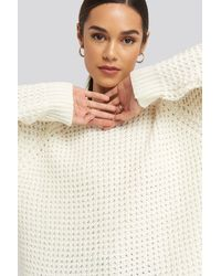 NA-KD - Round Neck Pineapple Knitted Sweater - Lyst