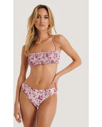 Trendyol Floral Pattern Bikini Top - Pink