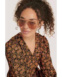 Mango Gold Maddy Sunglasses - Metallic