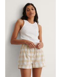 NA-KD Lingerie Flannel Pyjamas Shorts - Natur