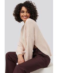 Trendyol Bike Collar Slit Sweater - Roze