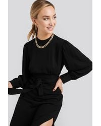 NA-KD - Front Tie Blouse - Lyst