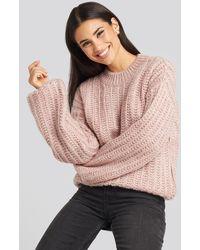 NA-KD - Round Neck Heavy Knit Sweater - Lyst