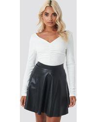 NA-KD Faux Leather Mini Skirt - Noir
