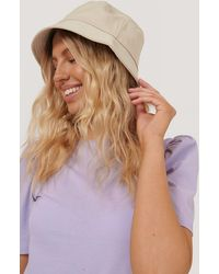 NA-KD Basic Bucket Hat - Naturel