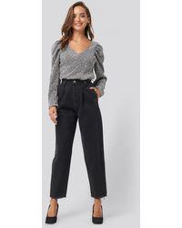 Trendyol Ripped Detail High Waist Mom Jeans - Zwart
