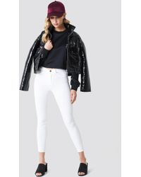 Trendyol - Ripped Hem High Waist Skinny Jeans - Lyst