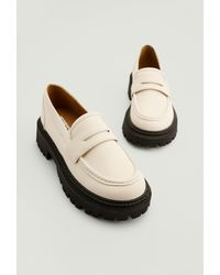 NA-KD Shoes Chunky Retro Loafers - Wit