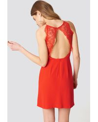 Samsøe & Samsøe - Willow Short Dress Fiery Red - Lyst